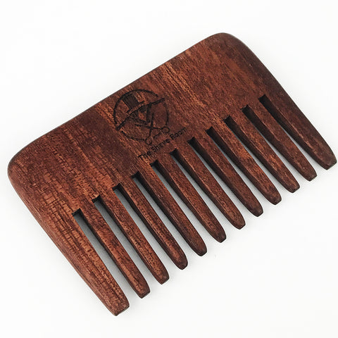 Wide Tooth Wooden Beard Comb