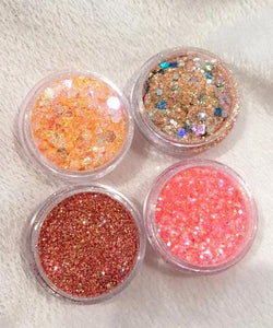 JUST PEACHY GLITTER COLLECTION