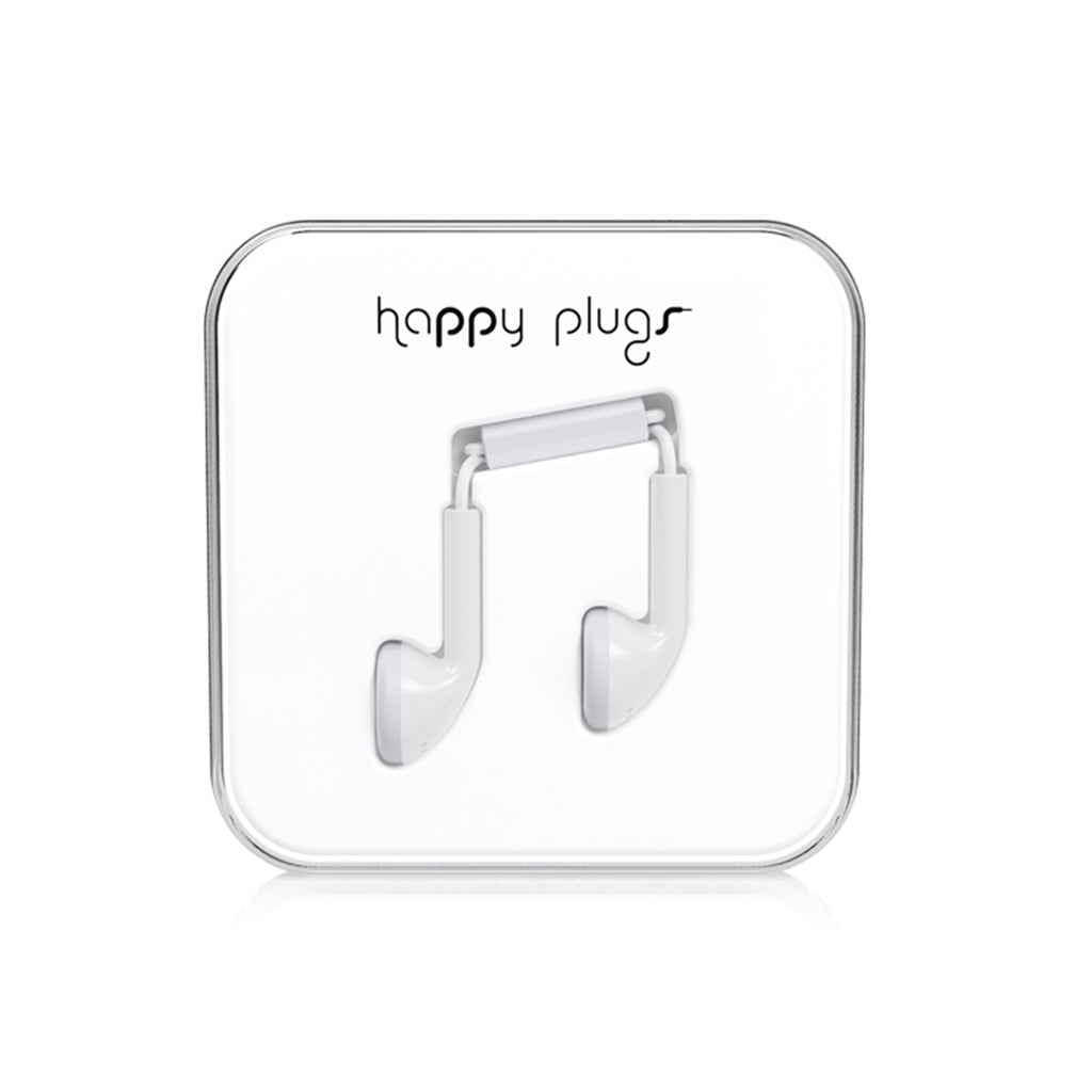 Happy Plugs  Earbuds In-Ear Headphones with Mic and Remote