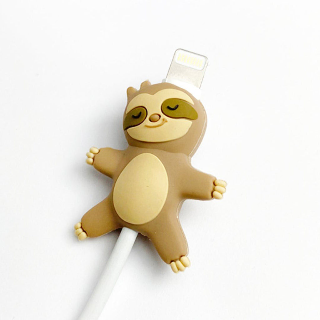 MojiPower Lazy Sloth Cable Protector