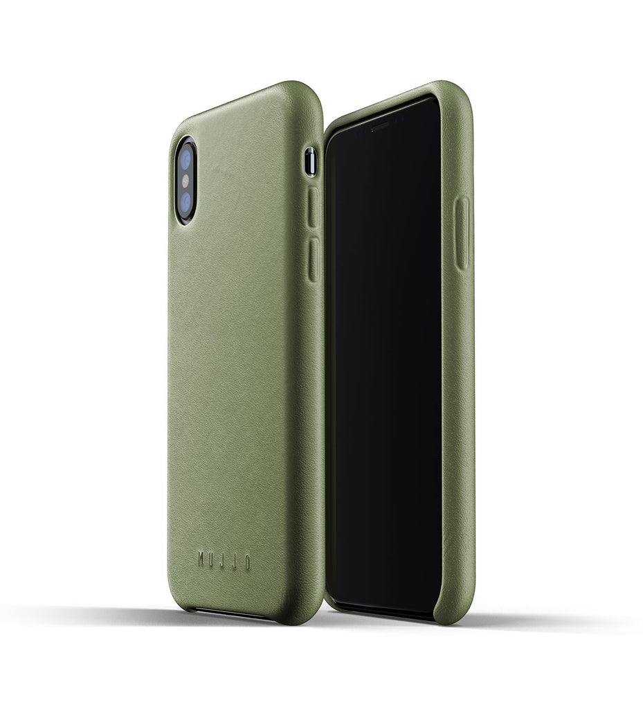 Mujjo Full Leather Case Olive Green