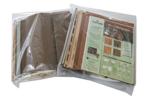 Sample Bag - 301000609NL - Log Cabin Board (half-round) - Timbermill Siding