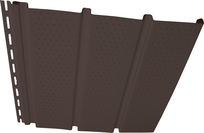 T4 Vinyl Soffit - Vented Musket Brown - Piece - 32DS12VT98PC - Timbermill Siding