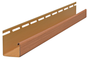 "3/4"" J-Channel Stained American Cedar Timbermill J-Channel - Piece - 39AC56693PC - Timbermill Siding"