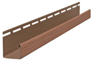 "1-1/8"" J-Channel Stained Forest Brown - Piece - 39AC36695PC - Timbermill Siding"