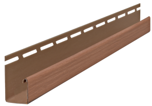 "3/4"" J-Channel Stained Forest Brown Timbermill J-Channel - Piece - 39AC56695PC - Timbermill Siding"