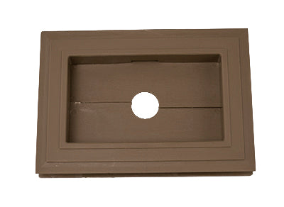 Recessed Split Mini Mount - Forest Brown - Piece - 39Z15066 - Timbermill Siding
