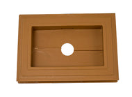 Recessed Split Mini Mount - American Cedar - Piece - 39Z15205