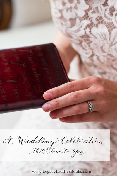 A Wedding Celebration That's True to You - Legacy Leather Books