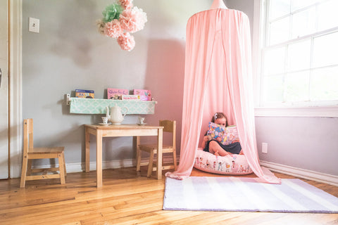 handmade play canopy from BlueHouseJoys.com