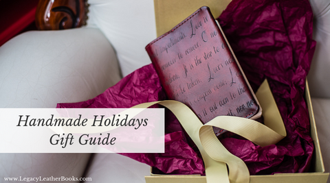 Handmade Holidays Gift Guide from Legacy Leather Books