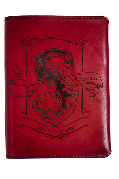 EPONYM Handcrafted Antique-Style Engraved Leather Book Cover - Legacy Leather Books