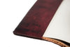 Handcrafted Antique-Style Engraved Leather Book Cover - Legacy Leather Books - interior text