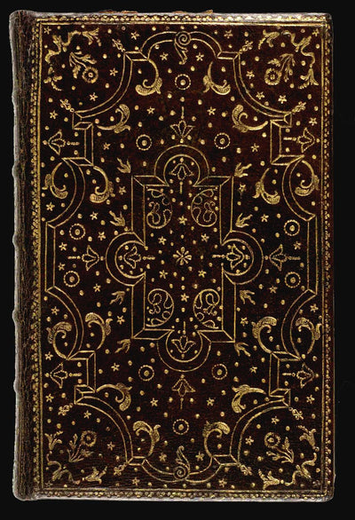 SCHEHERAZADE Little Sister Handcrafted Antique-Style Engraved Leather Book Cover - Legacy Leather Books - Antique book on which this design is based