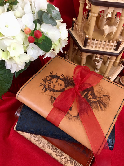 ROSSETTI Limited Edition Handcrafted Antique-Style Engraved Leather Book Cover - Legacy Leather Books