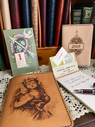 ELEANOR Little Sister and ROSSETTI Limited Edition Handcrafted Antique-Style Engraved Leather Book Covers - Legacy Leather Books