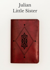 JULIAN Little Sister Handcrafted Antique-Style Engraved Leather Book Cover - Legacy Leather Books