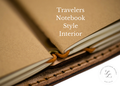 Handcrafted Antique-Style Engraved Leather Book Cover - Legacy Leather Books - travelers notebook style interior
