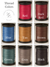 Thread Colors: Red, Dark Red, Blue, Tan, Brown, Green, Gray, Black