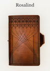 ROSALIND Handcrafted Antique-Style Engraved Leather Book Cover - Legacy Leather Books