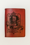MONOGRAM Handcrafted Antique-Style Engraved Leather Book Cover - Legacy Leather Books