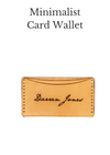 PERSONALIZED MINIMALIST CARD WALLET - Legacy Leather Books