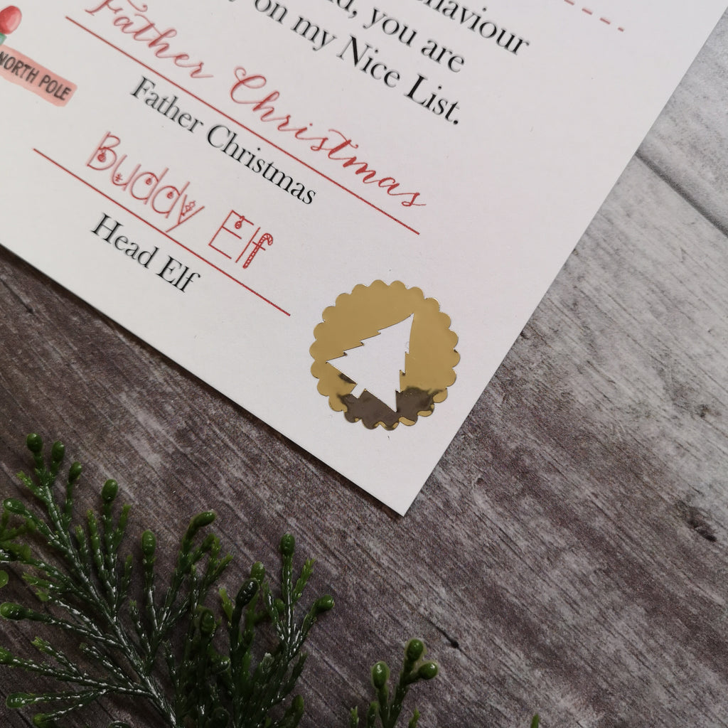 The Nice List Certificate