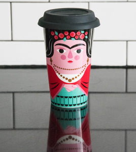 "Travel Mug ""Frida""- Ingela Arrhenius."