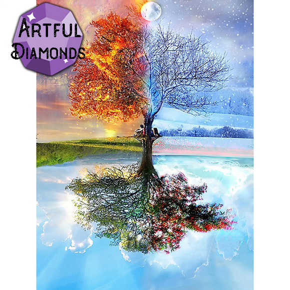 Four Seasons Tree Of Life Diamond Painting Kit