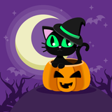 Moon Kitty Halloween Diamond Painting Kit