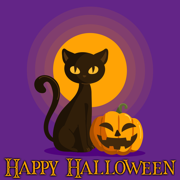 Pumpkin Cat Happy Halloween Diamond Painting Kit