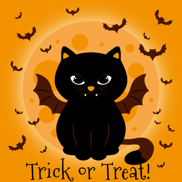 Trick Or Treat Kitty Cat Halloween Diamond Painting Kit