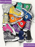 All Star Converse Shoes Diamond Painting Kit