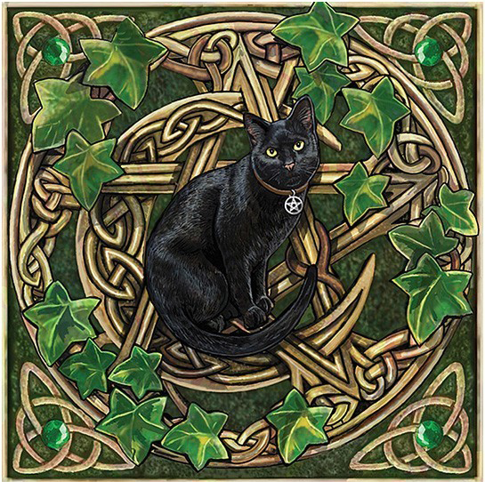 Wicca Kitty Cat Celtic Knots Diamond Painting Kit