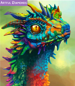 *Premium* Rainbow Dragon Diamond Painting Kit