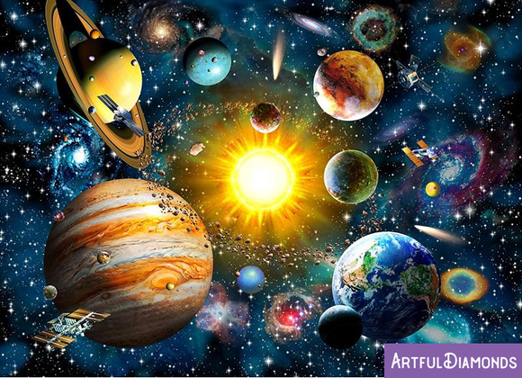 Solar System Space Universe Diamond Painting Kit
