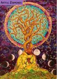 Tree Of Life Moon Cycle Psychedelic 5D DIY Diamond Painting Kit