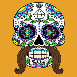 Day Of The Dead Male Sugar Skull Halloween Diamond Painting Kit