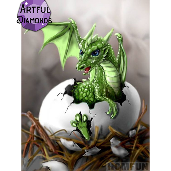 Diamond Painting Starter Kit - Baby Green Dragon