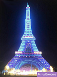 LED Lights Eiffel Tower Diamond Painting Kit