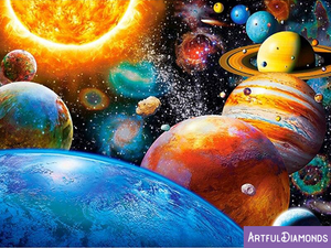 Universe Solar System Space Earth Planets Diamond Painting Kit