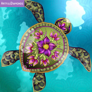 Mandala Sea Turtle Diamond Painting Kit