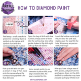 DIY Diamond Painting Kit For Beginners & Experts. Available in multiple sizes. Instant stress relief for anxiety treatment. Makes a beautiful Christmas decoration once finished and framed! #diamondpainting #stressrelief #DIY #rhinestones #diamondart #christmas
