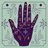 Palm Reading Astrology Wicca Witch Diamond Painting