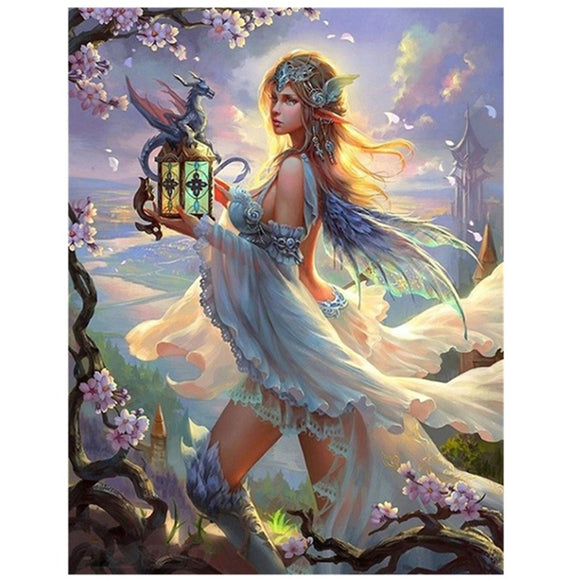 Dragon Light Goddess Diamond Painting Kit