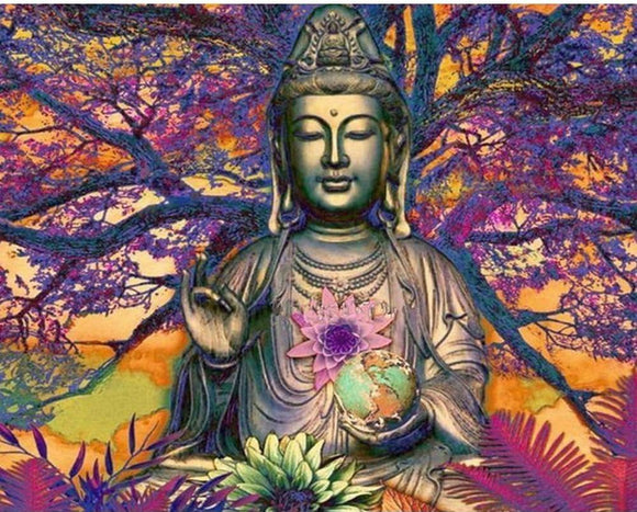 Violet Zen Buddha Diamond Painting