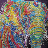 Rainbow Elephant Special Diamond Painting