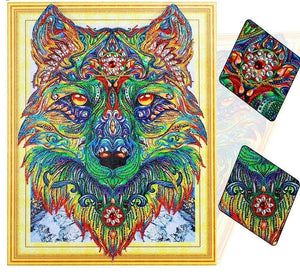 Earth Wolf Special Diamond Painting