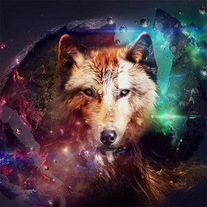 Nebula Galaxy Wolf Portrait Diamond Painting Kit