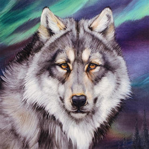 Wise Wolf Diamond Painting Kit